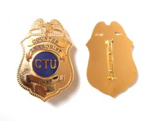 "CTU Jack Bauer badge, from the TV show ""24"", Toy Novelty FOR COLLECTING PURPOSES ONLY-DESIGN FOR A MADE UP AGENCY!!!"